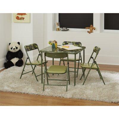 Zoomie Kids Epsilon Vinyl Kids 5 Piece Square Table and Chair Set