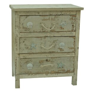 Wyndham 3 Drawer Chest by Rosecliff Heights
