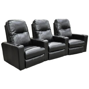 Portland Home Theater Seating (Row of 3) by Omnia Leather