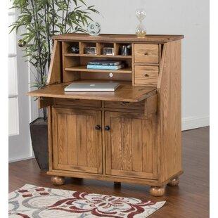 Fresno Solid Wood Secretary Desk by Loon Peak Wonderful