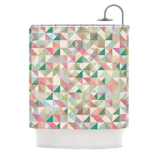 East Urban Home Graphic Shower Curtain