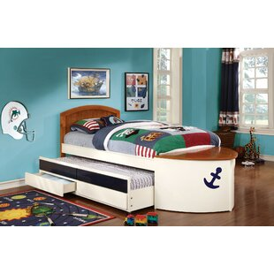 Twin Mate's & Captain's Bed with Trundle and Drawer