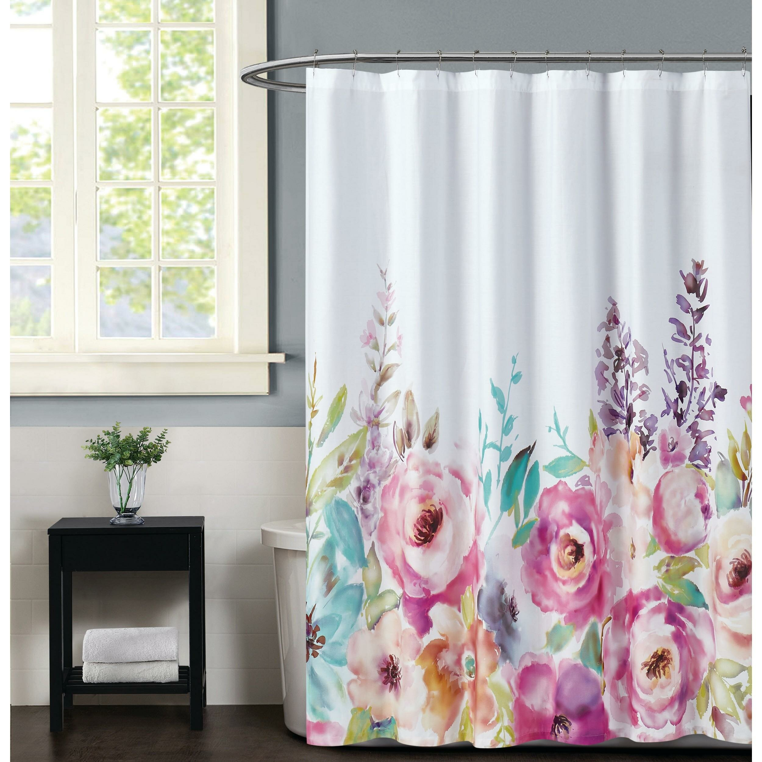 Christian Siriano Spring 100 Cotton Floral Single Shower Curtain Wayfair