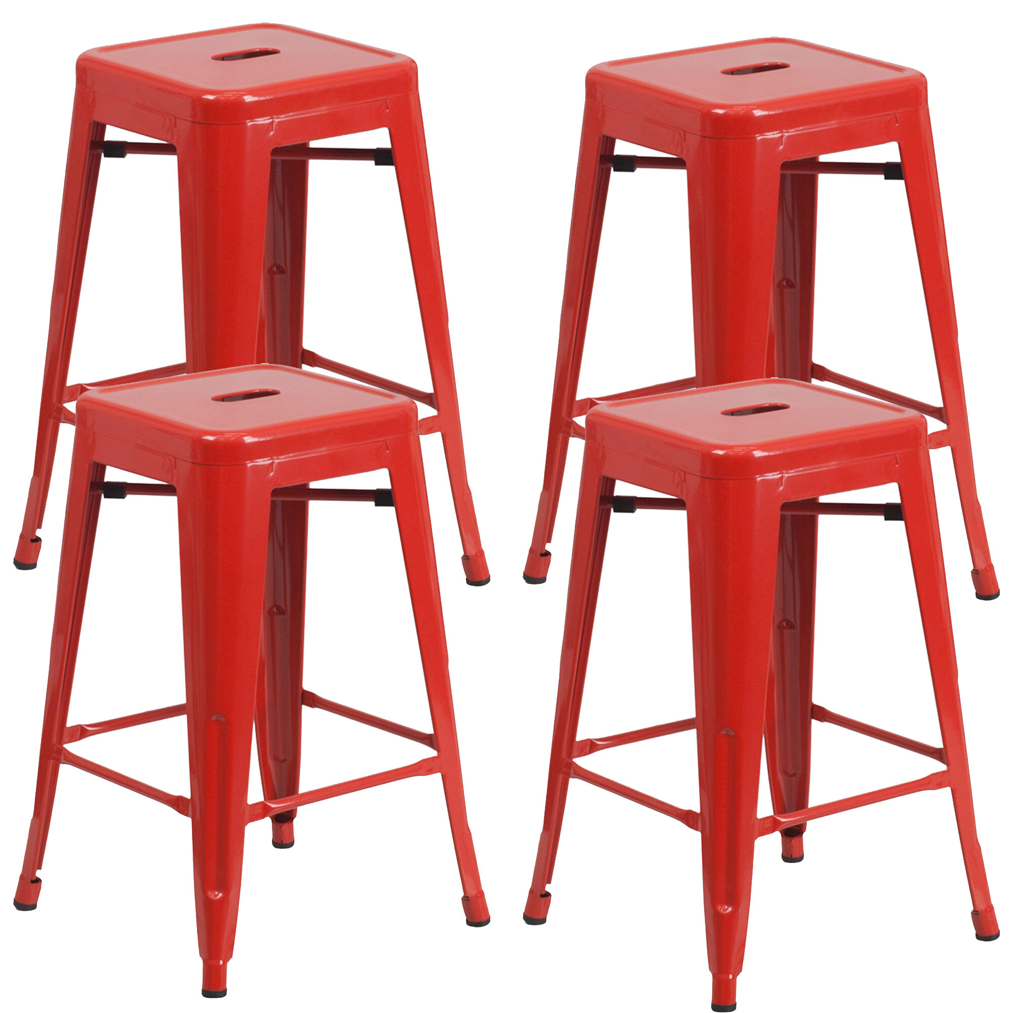Latitude Run Farwell Backless 24 Bar Stool Reviews Wayfair