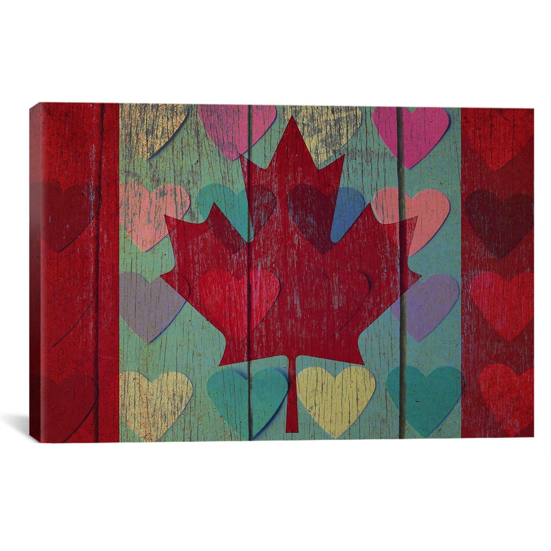 Winston Porter Canada Flag 4 Graphic Art On Canvas Wayfair Ca