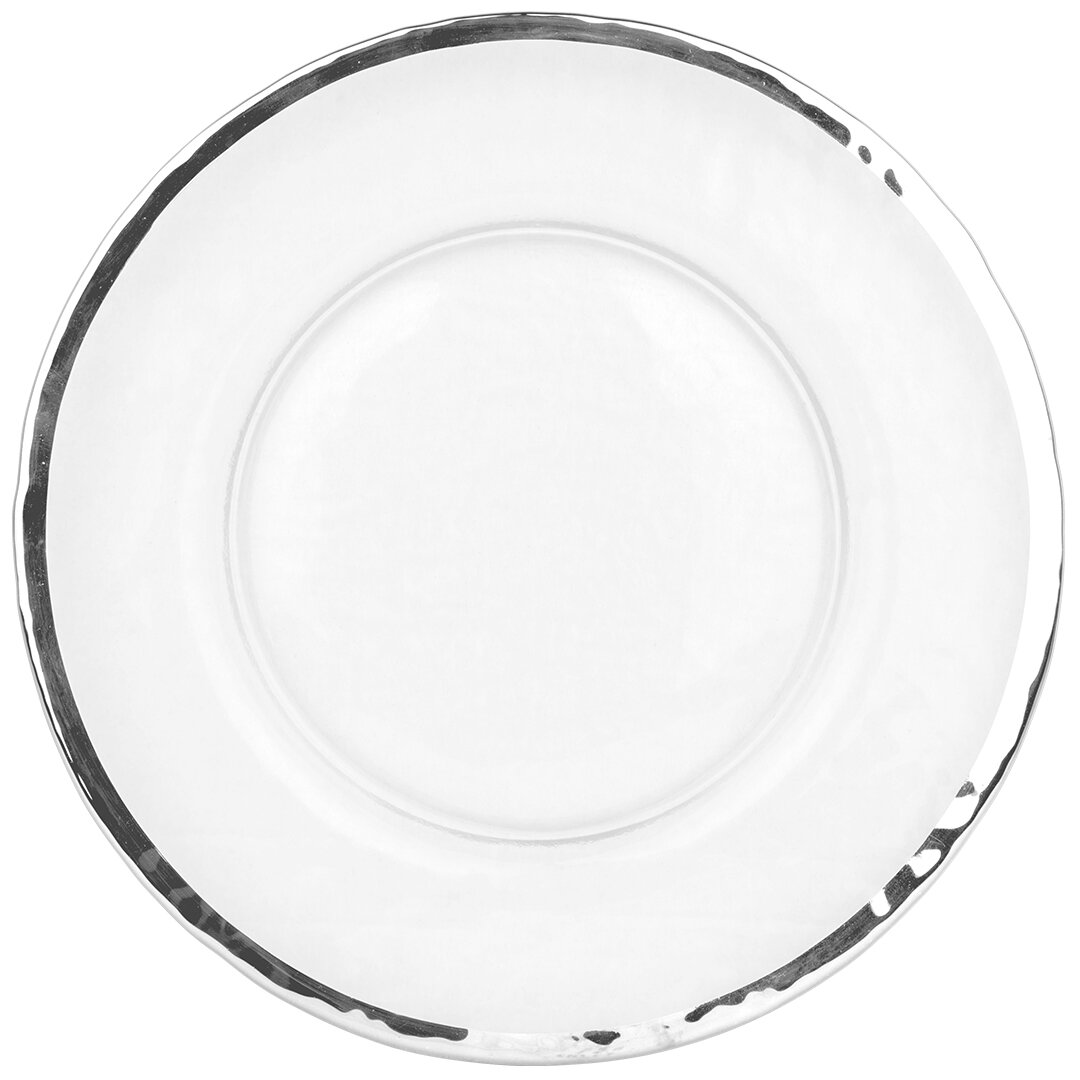 Clear Beaded Glass Charger Plate For Weddings And Event Party 33cm 12 New Dinnerware Serving Dishes Dishes