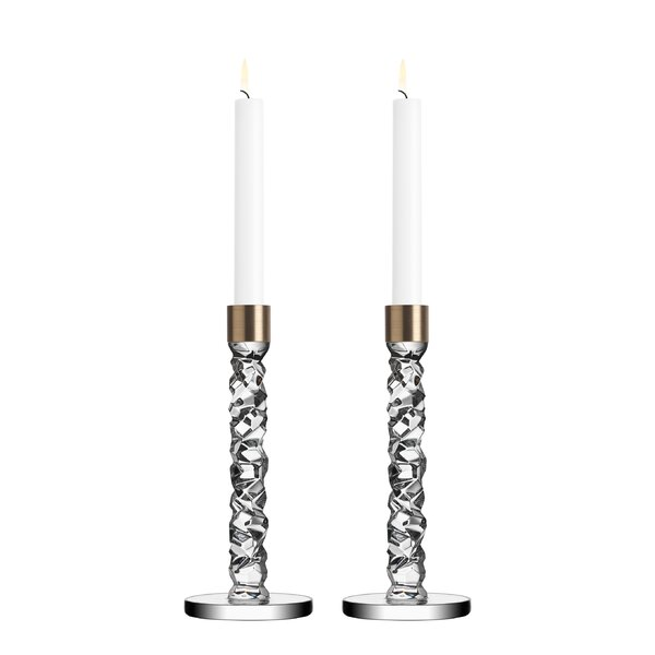 carat crystal candlestick set of 2