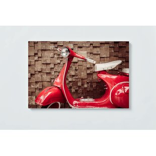 Scooter Motif Magnetic Wall Mounted Cork Board By Ebern Designs