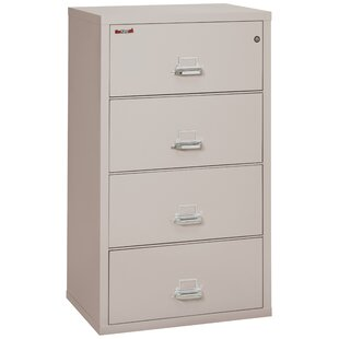 FireKing Fireproof 4-Drawer Vertical File Cabinet