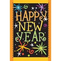 Happy New Year Flag 3x5ft NYE 2020  New Years Flag Holiday Decor Seasonal