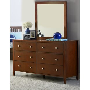 Viv + Rae Granville 6 Drawer Double Dresser with Mirror Image