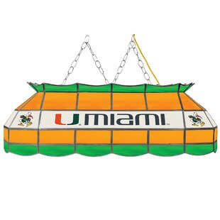 Trademark Global University of Miami 3-Light Pool Table Light