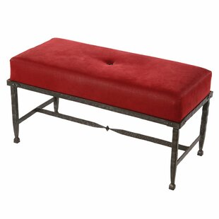 Roybal Faux Leather Bench by Loon Peak