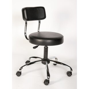Height Adjustable Lab Stool with Backrest