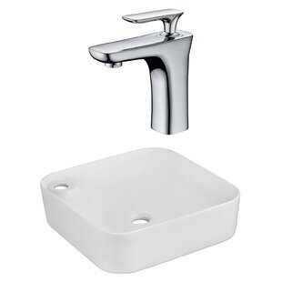 Best Ceramic Rectangular Vessel Bathroom Sink with Faucet By Royal Purple Bath Kitchen