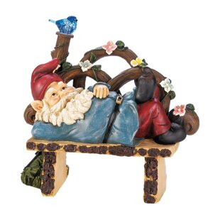 Lilyana Solar Afternoon Nap Gnome Statue By August Grove