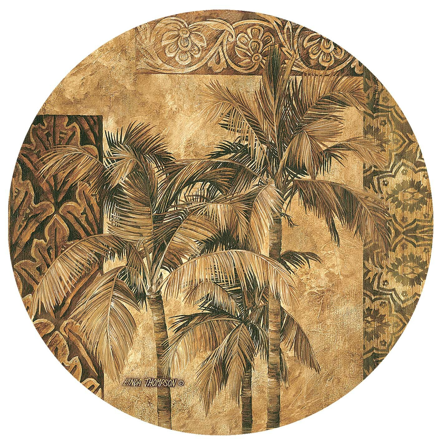 Thirstystone Golden Palm Tapestry Occasions Coaster Reviews Wayfair