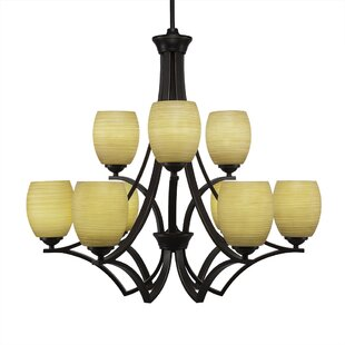Red Barrel Studio Couto 9-Light Shaded Chandelier