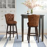 Marthasville Swivel Bar & Counter Stool by Three Posts