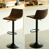 Kilmer Swivel Adjustable Height Stool (Set of 2) by Williston Forge