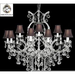 Alvarado 16-Light Bell Shade Shaded Chandelier by Astoria Grand