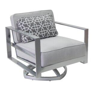 Leona Horizons Swivel Rocking Chair with Cushion