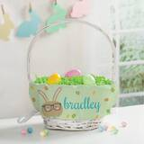 Bunny Personalized Easter Wicker Basket by The Holiday Aisle