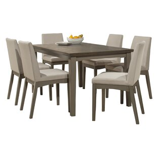 Clary 7 Piece Dining Set by Rosecliff Hei..