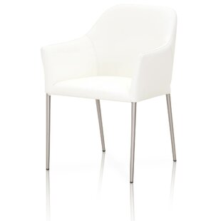 Suresh Genuine Leather Upholstered Dining Chair