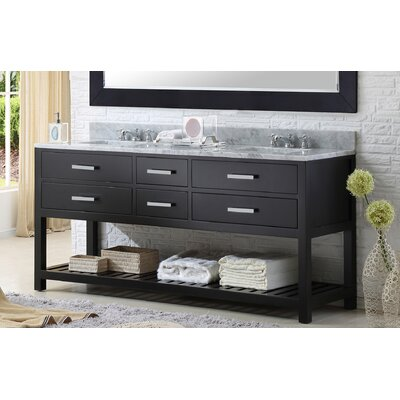 "Custom Bathroom Vanities Nj darby home co fran 60"" double sink bathroom vanity set & reviews"