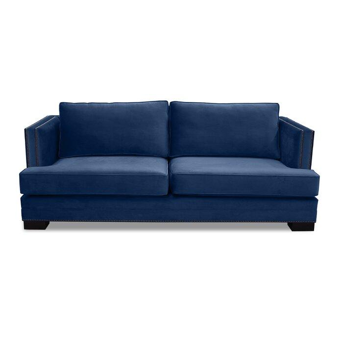 Calais Microfiber 80″ Square Arm Sofa