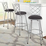 Lamoille Adjustable Height Swivel Bar Stool (Set of 3) by Red Barrel Studio®