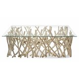 Rectangular Branch Wood Coffee Table by Ibolili