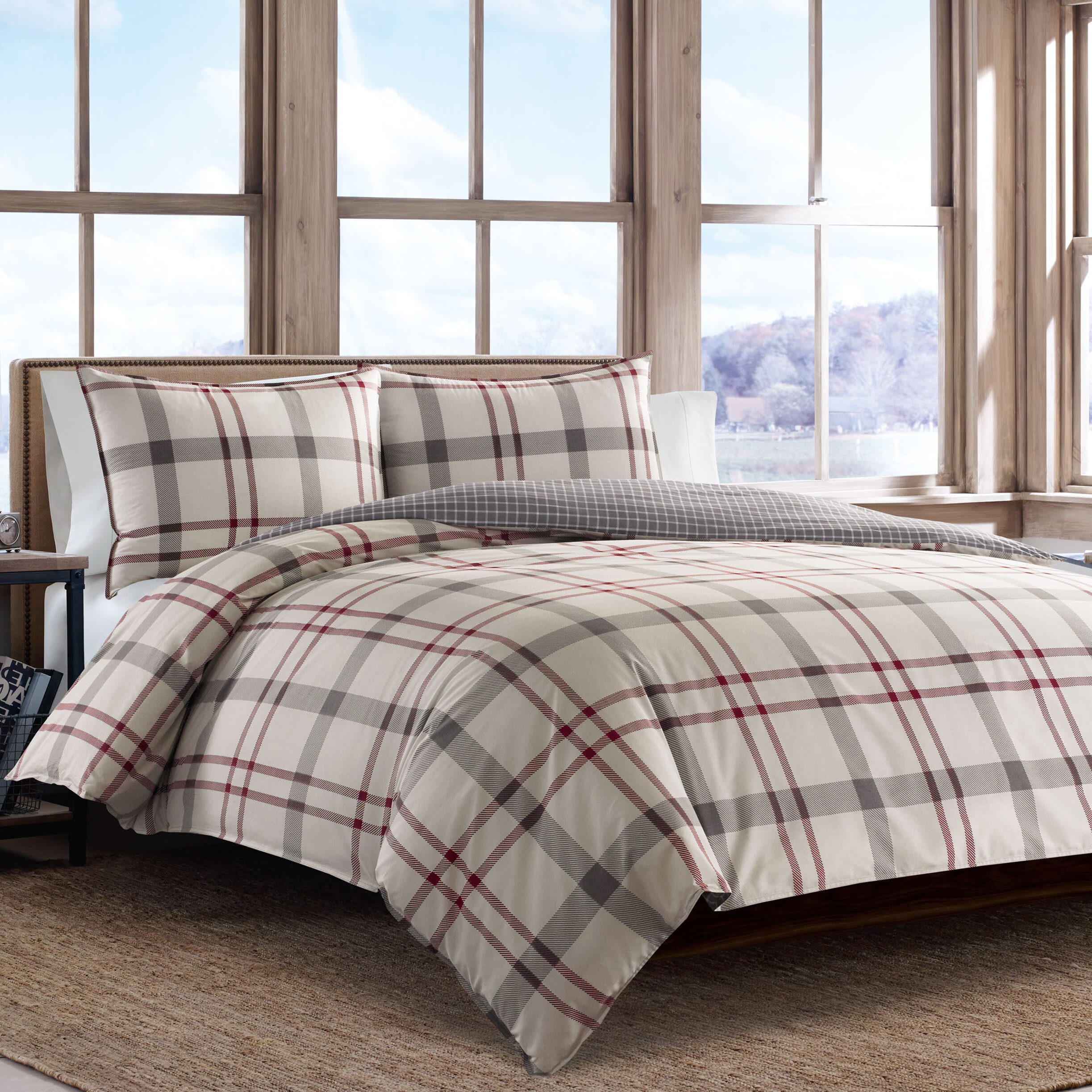 Eddie Bauer Portage Bay Reversible Duvet Cover Set Reviews Wayfair