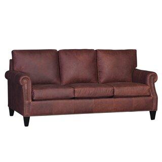 Cuevas Genuine Leather Sofa by Darby Home Co