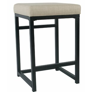 Corinna Metal Open Back 24 Bar Stool by Charlton Home