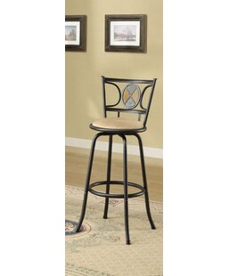 Charlton Home Marlene Adjustable Swivel Bar Stool (Set of 2)