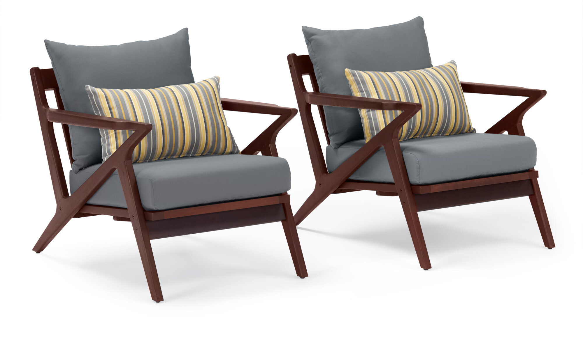 chaya patio chair with sunbrella cushions