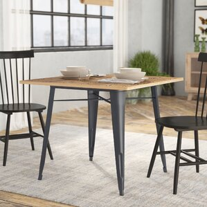 Spurling Metal and Wood Dining Table by L..