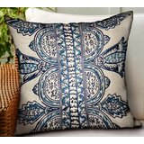 Letendre Paisley Luxury Indoor/Outdoor Throw Pillow