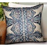 Letendre Paisley Luxury Indoor/Outdoor Throw Pillow