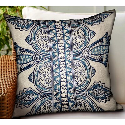 Letendre Paisley Luxury Indoor/Outdoor Throw Pillow by Bungalow Rose Sale