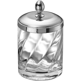 Alcott Hill Inglestone Common Cotton Ball Swab Jar
