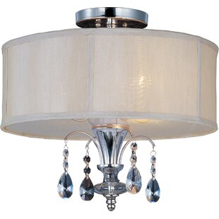 Schurman 3-Light Semi Flush Mount by House of Hampton