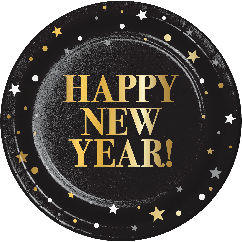 Creative Converting New Year Heavy Weight Paper Disposable Dessert Plate Wayfair