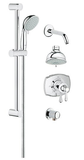 Grohe Grohflex Pressure Balance Adjule Shower Head Complete System Reviews Wayfair