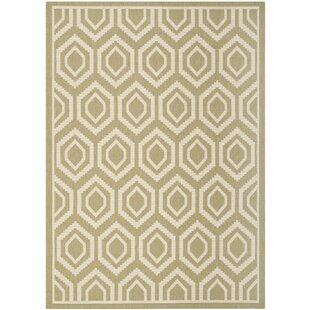 Catharine Green/Beige Indoor/Outdoor Area Rug