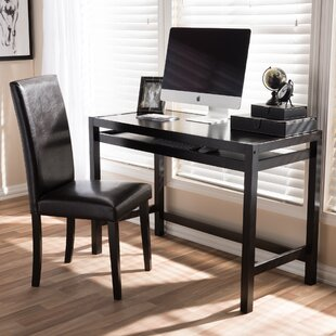 Outstanding Dark Brown Wood Desk Chair Sets Youll Love Wayfair Short Links Chair Design For Home Short Linksinfo