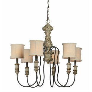 Bay Isle Home Rivers 6-Light Shaded Chandelier