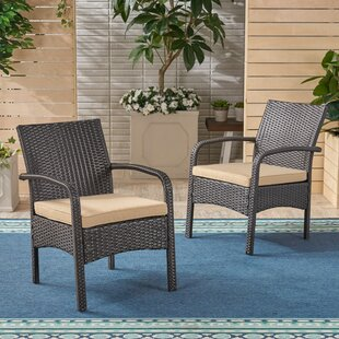 Grissett Patio Chair with Cushion (Set of 2)